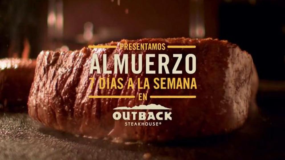 Outback Steakhouse TV Commercial, 'Almuerzo Siete D??as a la Semana'