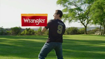 Wrangler Advanced Comfort Jeans TV Spot, 'Work Out' Featuring Drew Brees - 153 commercial airings