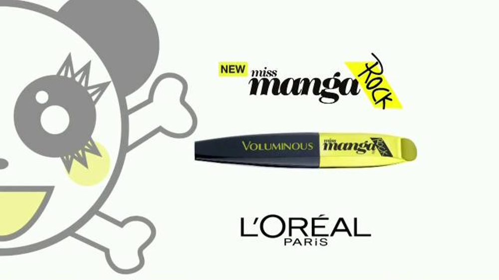 503e24ddac2 L'Oreal Paris miss Manga Rock Mascara TV Commercial, 'Punky' - iSpot.tv