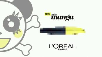 L'Oreal Paris Miss Manga Rock Mascara TV Spot, 'Punky' - Thumbnail 3