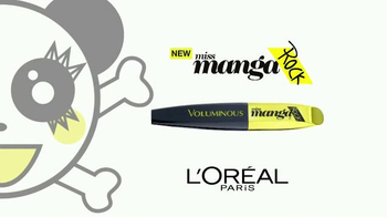 L'Oreal Paris miss Manga Rock Mascara TV Spot, 'Punky'