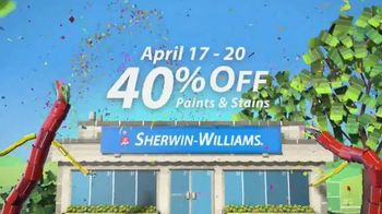 Sherwin-Williams Four-Day Super Sale TV Spot, 'April'