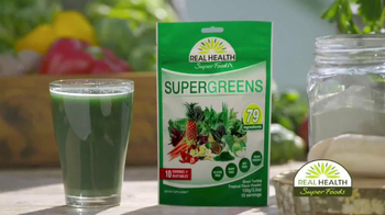 Real Health Superfoods SuperGreens TV Spot, 'Drink Your Veggies'