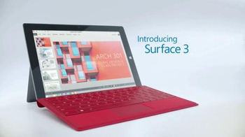 Microsoft Surface 3 TV Spot, '3, 2, 1...Go!' - Thumbnail 3