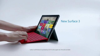 Microsoft Surface 3 TV Spot, '3, 2, 1...Go!' - Thumbnail 7