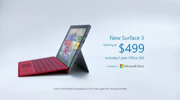 Microsoft Surface 3 TV Spot, '3, 2, 1...Go!' - Thumbnail 8
