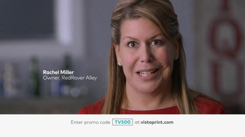 Vistaprint TV Spot, \'Rachel Miller, Owner of RedRover Valley\'