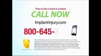 Gold Shield Group TV Spot, 'Hip & Knee Replacement Alert' - Thumbnail 8