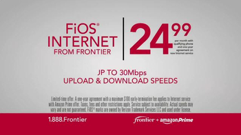 Frontier FiOS + Amazon Prime TV Spot, 'Blazing Fast' - Thumbnail 7