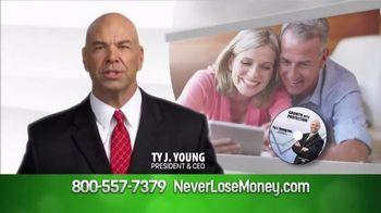 NeverLoseMoney.com TV Spot, 'Protected Against Losses' - 155 commercial airings