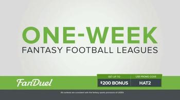 FanDuel Fantasy Football One-Week Leagues TV Spot, 'On a New Level' - Thumbnail 2