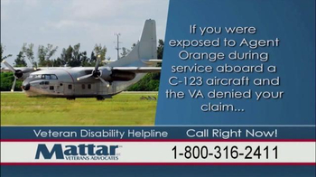 Mattar Veteran Advocates TV Spot, 'Agent Orange' - Thumbnail 8