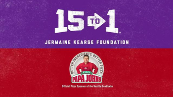 Papa John's TV Spot, 'Jermaine Kearse Foundation' Featuring Jermain Kearse - Thumbnail 2