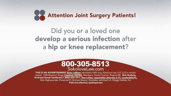 Sokolove Law TV Spot, 'Hip or Knee Replacement' - Thumbnail 1