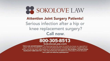 Sokolove Law TV Spot, 'Hip or Knee Replacement' - Thumbnail 5