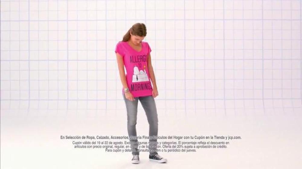 JCPenney Gran Venta con Descuentos Extra$ TV Commercial, 'Camisetas'
