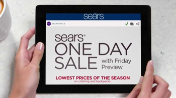 Sears One Day Sale TV Spot, 'School Looks' - Thumbnail 3