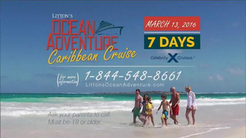 Litton's Ocean Adventure Caribbean Cruise TV Spot, 'Celebrity Cruise' - Thumbnail 4