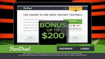 FanDuel Fantasy Football One-Week Leagues TV Spot, 'Joe Watson' - Thumbnail 5