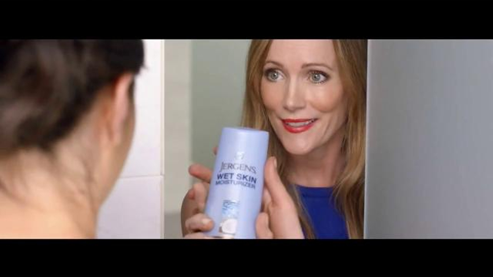 Jergens Wet Skin Moisturizer Tv Commercial No Towel Yet Featuring