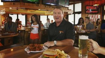 Hooters TV Spot, 'Fantasy Football Challenge' Featuring Jon Gruden - 1849 commercial airings