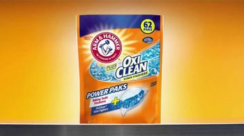 Arm and Hammer Plus OxiClean Power Paks TV Spot, 'Powerful Combination'