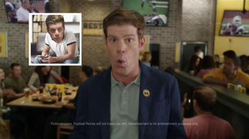Buffalo Wild Wings TV Spot, 'Football Rich!' Featuring Steve Rannazzisi - 188 commercial airings