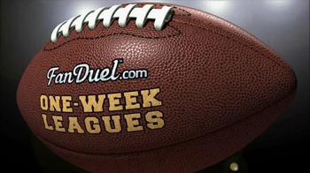 FanDuel Fantasy Football One-Week Leagues TV Spot, 'New Week, New Team' - Thumbnail 1