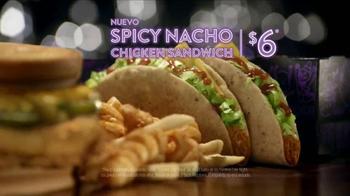 Jack in the Box Spicy Nacho Chicken Sandwich TV Spot, 'Pool Hall' [Spanish] - Thumbnail 8