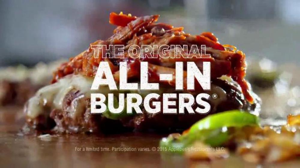 Applebee's Original All-In Burgers TV Commercial, 'Flavor Bombed'