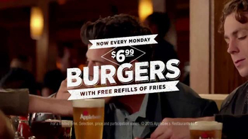 Applebee's Monday Night Burger Night TV Spot, 'Look Forward to Mondays' - 1550 commercial airings