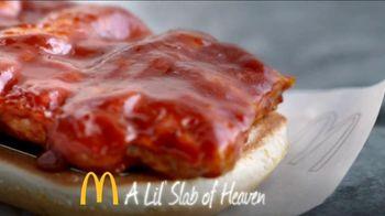 McDonald's McRib TV Spot, 'Slab of Heaven' - 159 commercial airings