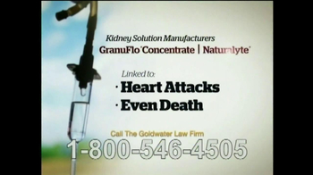Goldwater Law Firm TV Spot, 'GranuFlo Concentrate, Naturalyte'