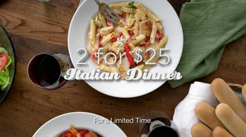 Olive Garden 2 For $25 Italian Dinner TV Spot  - Thumbnail 8