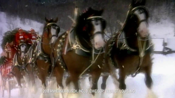 Budweiser TV Spot, 'Happy Holidays' - 8 commercial airings