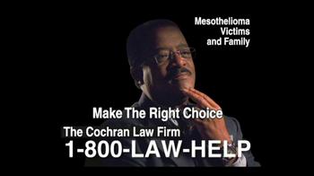 The Cochran Law Firm TV Spot, 'Mesothelioma' - Thumbnail 2