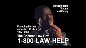 The Cochran Law Firm TV Spot, 'Mesothelioma' - Thumbnail 3