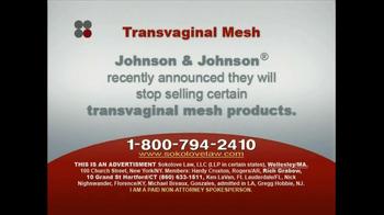 Sokolove Law TV Spot, 'Transvaginal Mesh' - Thumbnail 2