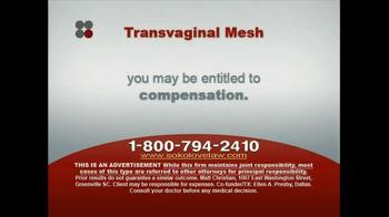 Sokolove Law TV Spot, 'Transvaginal Mesh' - Thumbnail 6