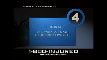 Bernard Law Group TV Spot, 'Reason 4' - Thumbnail 1