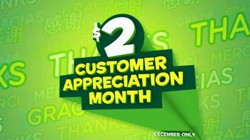 Subway $2 Subs TV Spot, 'Customer Appreciation' Feat. Brian Baumgartner - Thumbnail 1