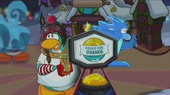 Club Penguin Holiday Party TV Spot, 'Coins for Change'