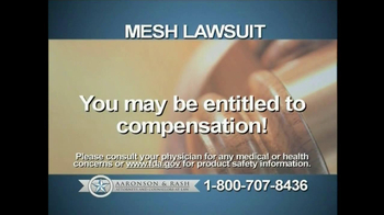 Aaronson and Rash TV Spot, 'Mesh Warning' - Thumbnail 4