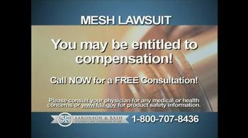 Aaronson and Rash TV Spot, 'Mesh Warning' - Thumbnail 5