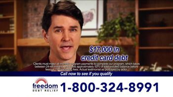 Freedom Debt Relief TV Spot, 'Maxed Out Credit Cards'
