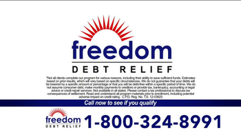 Freedom Debt Relief TV Spot, 'Maxed Out Credit Cards' - Thumbnail 6
