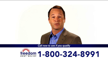 Freedom Debt Relief TV Spot, 'Maxed Out Credit Cards' - Thumbnail 1