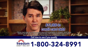 Freedom Debt Relief TV Spot, 'Maxed Out Credit Cards' - Thumbnail 3
