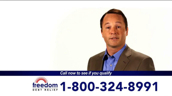 Freedom Debt Relief TV Spot, 'Maxed Out Credit Cards' - Thumbnail 4