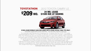 2012 Toyota Camry LE TV Spot, 'Toyotathan: Lucky Guess' - Thumbnail 9